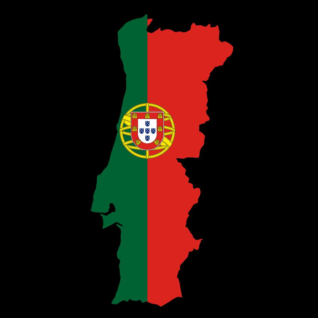 דגל פורטוגל על המדינה